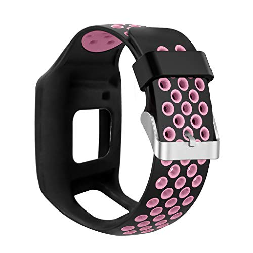 Buwei Correa de Reloj de Silicona Suave a Prueba de Golpes Correa de muñeca Reemplazo para Tomtom 1 Multi-Sport GPS HRM CSS Am Cardio Runner Reloj Accesorios