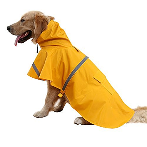 okdeals Large Dog Raincoat Leisure Pet Waterproof...