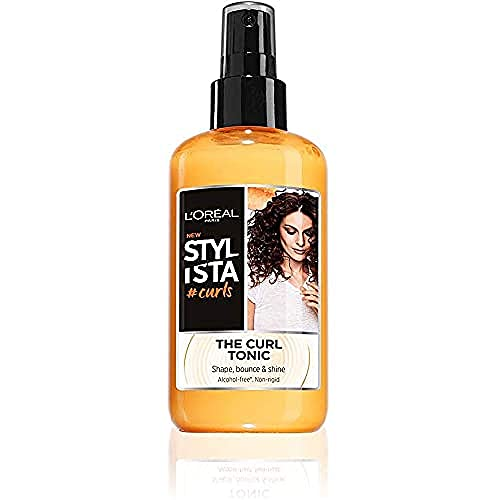 L Oréal Paris Stylista Curls Spray Capelli per Ricci Definiti ed Elastici, Formula senza Alcool Arricchita con Bacche di Goji, 200 ml