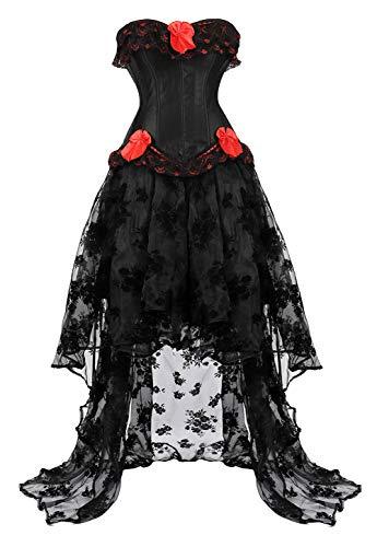 Zhitunemi vestido de cors steampunk medieval campesino de la quimie, disfraz victoriano de saln para nia - - Small