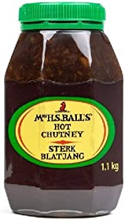 Mrs Balls HOT Chutney 1.1kg Wide Mouth Plastic Jar Imported from South Africa