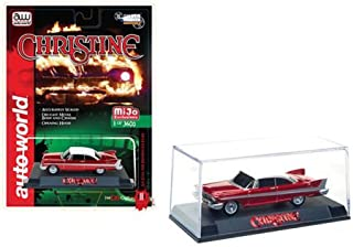 1958 Plymouth Fury Christine Red Chrome Limited Edition to 3600 pieces Worldwide 1/64 Diecast Model Car by Autoworld CP7494