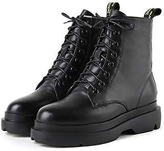 MENGLTX Sandalias Tacones Altos botas De Tobillo para Mujer Moda con Cordones Marca De Color Sólido Zapatos para Mujer Mujer 2019 Tacones Altos botas De Moto Cortas