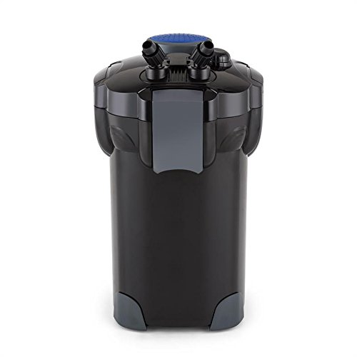 Waldbeck Clearflow 55 - Filtre externe pour aquarium, Pour aquarium de max. 2000L, Faible consommation, Filtrage en 4 parties, Nettoyage facile, Tuyau 1,6m, Eau douce ou salée, Noir