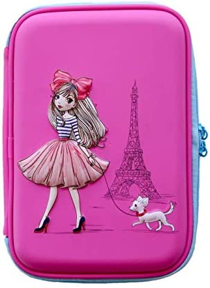 Pencil Case for Girls Cute Preschool Kindergarten and Elementary Pen Holder with Compartments product image