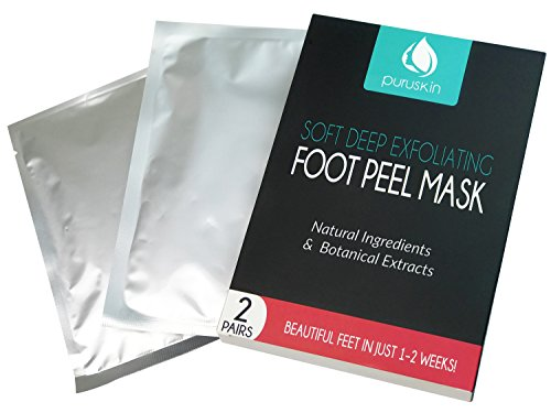BEST FOOT PEEL MASK SOCKS for Active Men & Women, Magic Exfoliating Callus Remover, Peeling Off Exfoliator Gel Socks Booties for Dry Skin & Cracked Heels Relief, Reveal Soft Feet (2 Pairs)
