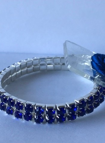 Sophisticated Lady Rhinestone Corsage Bracelet One Size (Sapphire), DIY, Wedding, Homecoming, Prom, Events, Arts & Crafts and Special Occasions