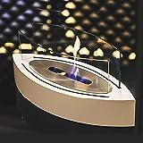 BKWJ Chimenea de bioetanol de sobremesa, decoración Moderna de Lujo para fogatas para Interiores y Exteriores, Cuenco de Fuego para calefacción sin Humo, para Uso residencial