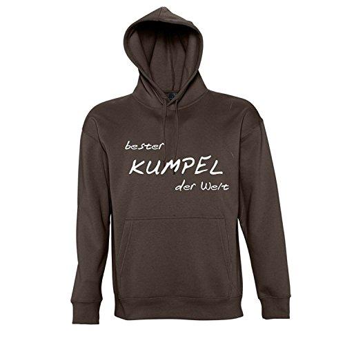 Bester Kumpel der Welt - GEBURTSTAG, FUN, KULT Kapuzen Sweatshirt S-XXL , Chocolate - weiß , M