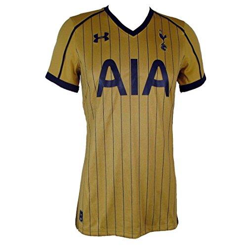 """Shirt/Trikot """"Tottenham Hotspur"""" für Damen, Goldfarben, Nadelstreifen, Drittes Auswärtstrikot Saison 2016-17, damen, 1276035 796, gold, M"""