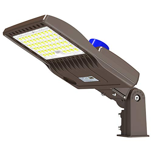 200W LED Parking Lot Light with Photocell 28000LM LED Shoebox Pole Mount Lights Fixture HID/HPS Replacement 5000K IP65 AC 100-277V UL Listed Outdoor Area Street Security Lighting for Stadium Roadways