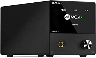 SMSL M500 MQA DAC Headphone Amplifier DSD512 32Bit/768kHz USB/Coaxial/Optical Analog Digital Converters(Black)