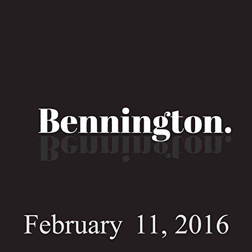 Bennington, February 11, 2016 audiobook cover art