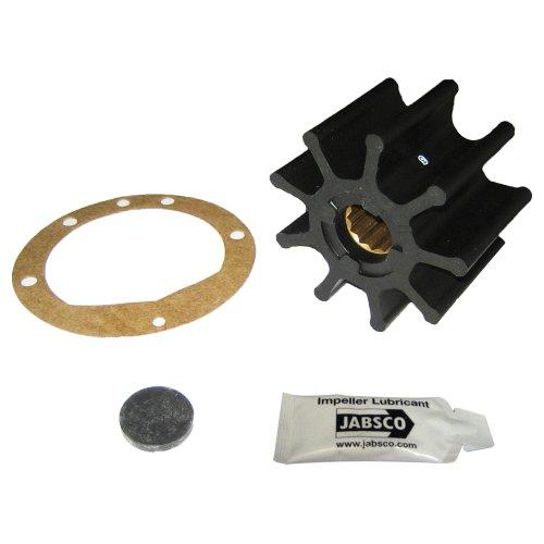 Jabsco 836-0003-P, nitrilo, Tipo de Unidad 7, Hoja 9, diámetro 3-3/4, Ancho 2-1/2 Eje, Inserto de latón