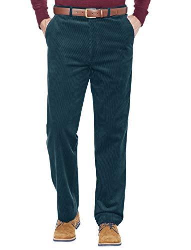 Pantalones De Pana con Cintura Elástica para Hombre Azul 58W / 31L