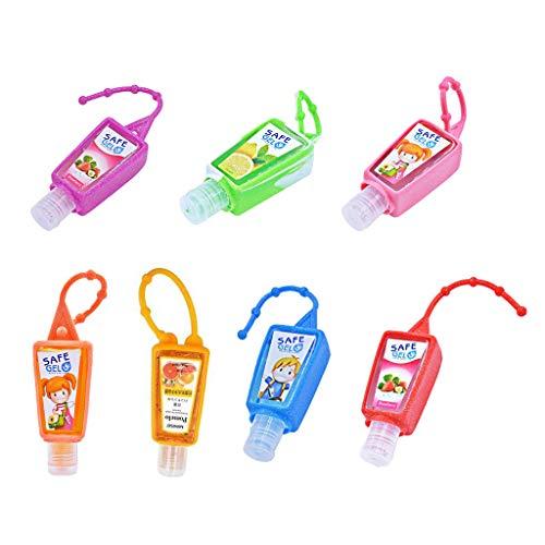 bulingLU 30ML Mini Gel de Manos sin aclarado, Frutas perfumadas portátil Clean Gel hidratante Seguro con Cuerda Que cuelga (Color al Azar)
