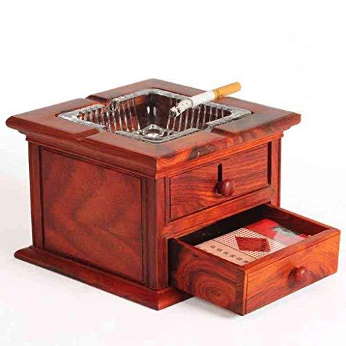 210526 Cenicero Cuadrado de Caoba cenicero de Ceniza de Ceniza decoración 10.5x10.5x3.5cm Cenicero WULOVEMI