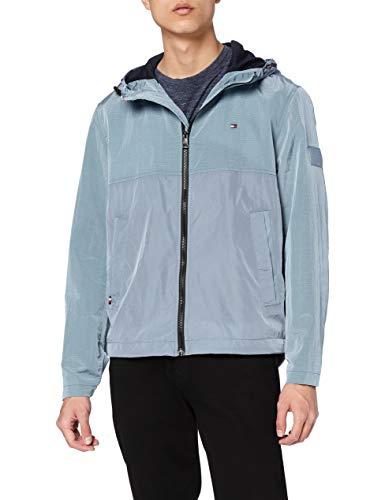 Tommy Hilfiger Lightweight Hooded Jacket Chaqueta, Colorado Índigo, 3XL para Hombre
