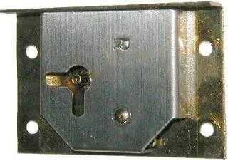 Right Hand Cabinet Door or Dresser Drawer Brass Plated Half Mortise Lock w/Skeleton Key | M-1841