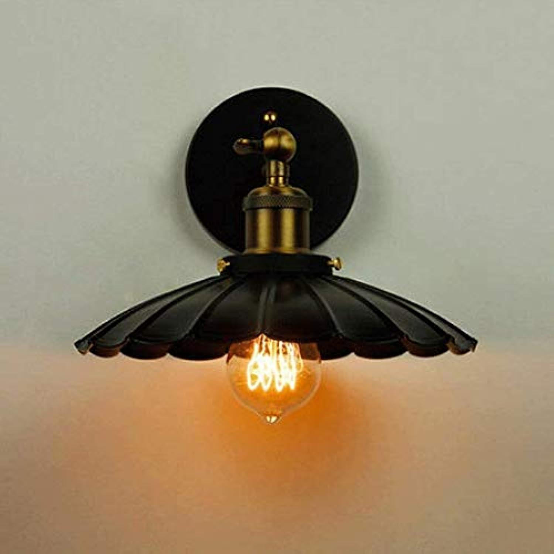 HhGold Wandlampe in Eisen Jeder Kopf von Schwarz 25 cm Wandleuchte E27 (Farbe   -, Gre   -)