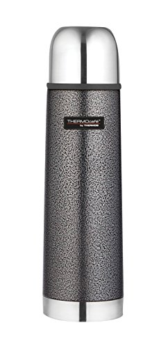 Thermos ThermoCafé Stainless Steel Flask, Hammertone Grey, 500 ml