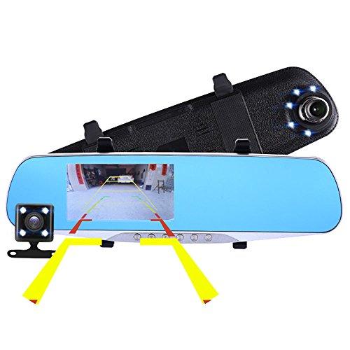 BQT Voiture Dash Cam, FHD lentille Full HD 1080P Voiture DVR 170 degré Grand Angle 4,3 Pouces, Night Vision Voiture DVR caméra enregistreur avec G-Sensor