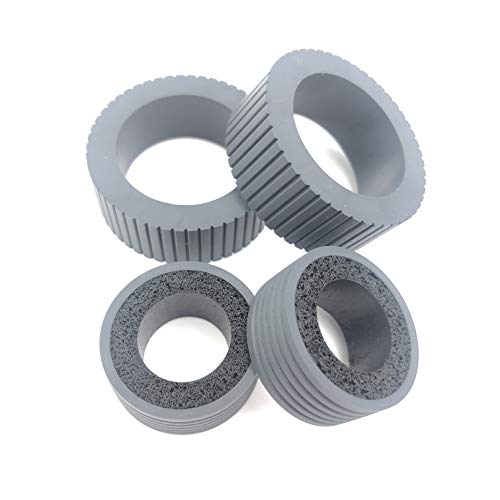 OKLILI PA03540-0001 PA03540-0002 Brake and Pick Pickup Roller Tire Kit Compatible with fi-6130 fi-6130Z fi-6140 fi-6140Z fi-6230 fi-6230Z fi-6125 fi-6225 ix500 ix1500 ix1400 ix1600