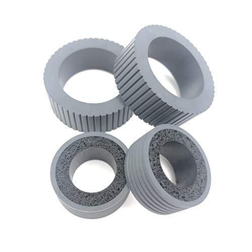 OKLILI PA03540-0001 PA03540-0002 Brake and Pick Pickup Roller Tire Kit Compatible with fi-6130 fi-6130Z fi-6140 fi-6140Z fi-6230 fi-6230Z fi-6125 fi-6225 ix500 ix1500