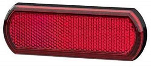 HELLA 8RA 013 403-001 Rückstrahler - Shapeline Tech - Lichtscheibenfarbe: rot - geklebt - für waagerechte Befestigung - hinten
