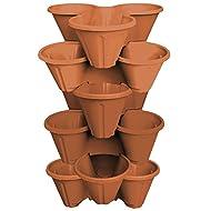TRIO Stacking Plant Pots Terracotta
