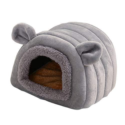 Homeriy Cama para hámster de animales pequeños, lavable, linda y cálida cueva...