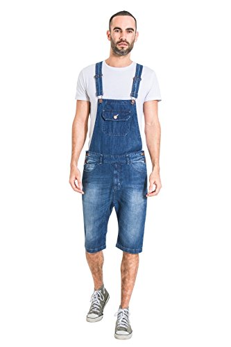 USKEES Herren Latzhose Overall Shorts Stonewash Kurze Latzhose latz Shorts JESSESHORTDENIM-38W