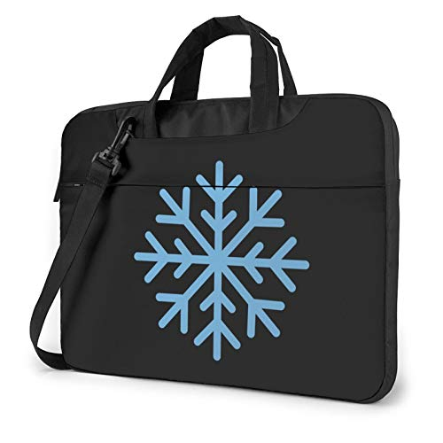 Miwaimao Snowflake Llaptop Bag 15.6 Inch Briefcase Shoulder Bag Satchel Tablet Bussiness Carrying Handbag Laptop Sleeve