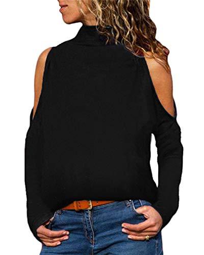 Yoins - Blusas holgadas informales para mujer, de cuello alt