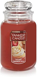 Yankee Candle Sugared Cinnamon Apple Large Jar Candle, Fruit Scent