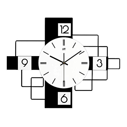 Rectangle Wall Hanging Clock, Silent Non Ticking Wall Clock,home Decor Simple Modern Wall Clock For Living Room Hallway Easy To Read-a 50x30cm(20x12inch)