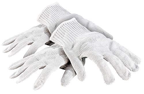 AGT Schnittfeste Handschuhe: 2 Paar Nylon-Stahl-Handschuhe mit Schnittschutz (Schnitthandschuhe)