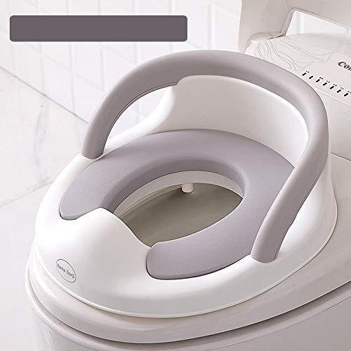 Töpfchen-Toilettensitz Für Kinder, Wc-Ring Für Kleinkinder Mit Weichem Kissen, Spritzschutz, Griffen, Für Runde Und Ovale Toiletten (Weiß)