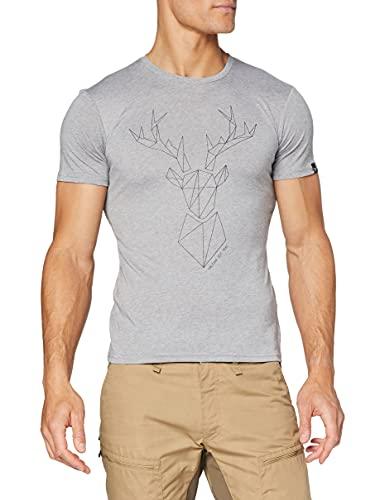 Salewa Koszulka męska Big Deer Dry Man T-shirt Bluzki i T-shirty szary szary (Heather Grey) 54/2X