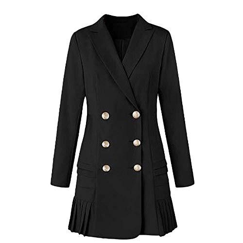Dames lange mouwen knoop solide stijlvolle Duster blazer jas jas dames opstaande kraag modieuze complex geknoopt trenchcoat