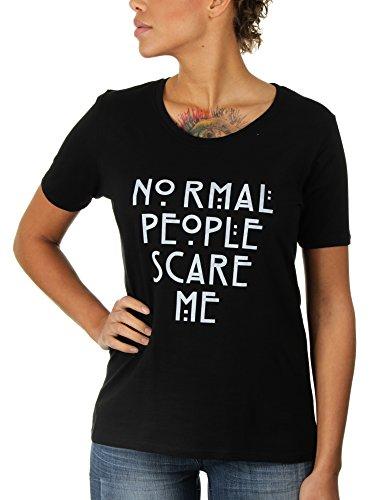 Normal People Scare Me - Damen T-Shirt von KaterLikoli, Gr. 3XL, Deep Black