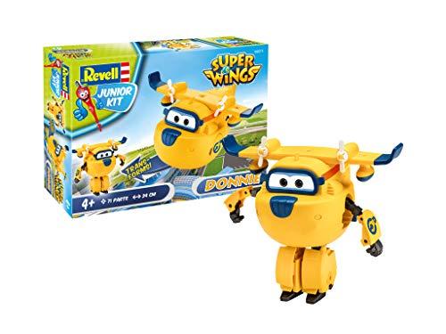 Revell 871 Donnie aus Super Wings 4 Der Bausatz mit dem Schraubsystem für Kinder ab 4 Jahre, Bauen-Schrauben-Spielen, mit tollen Funktionen, gelb, ca. 24 cm