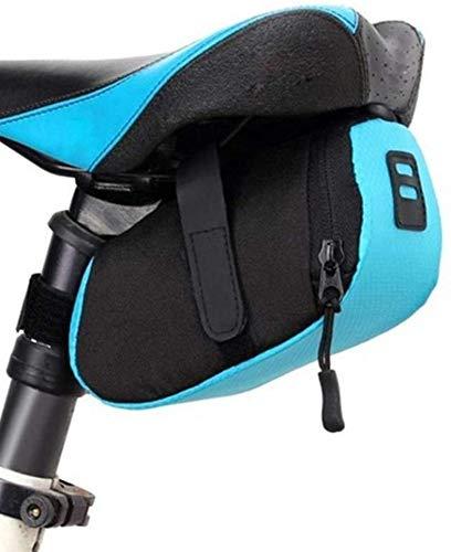 Bolsa cuadro de la bicicleta de nylon bolso de la bicicleta a prueba de agua de almacenamiento Bolsa de sillín de bicicleta cola trasera de la bolsa a prueba de golpes montar de la bici de ciclo del b