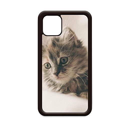 Animal Kitty - Carcasa para iPhone 12, diseño de gato gris