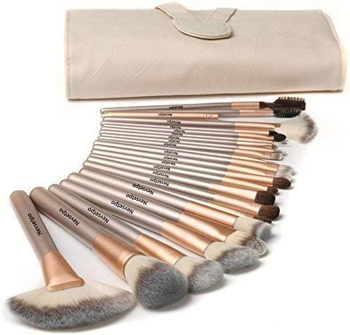 NEVSETPO Quality Makeup Brushes 24 Piece Professional Makeup Brush Sets for Kabuki Foundation product image