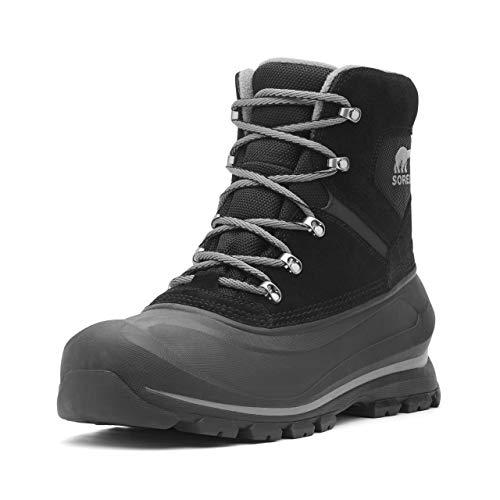 SOREL - Men's Buxton Lace Waterproof Winter Boot, Black, Quarry, 11 M US