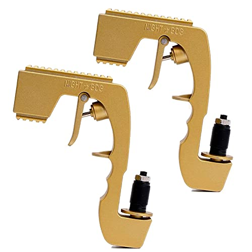 HOUADDY Champagne Squirt Gun Shooter Rociador Dispensador de Vino Ajustable Bubbly Blaster Tapones de Botella de Cerveza para Bodas Fiesta Night Club Bar Tool-2pcs