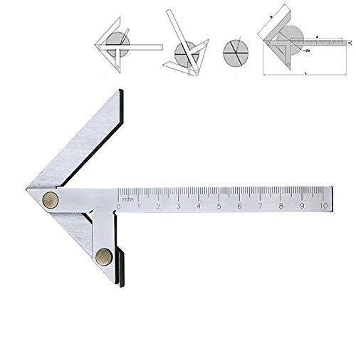 Pelze 100x70 High Precision Edelstahl-Center Winkel Lineal Winkelmesser QiuGe