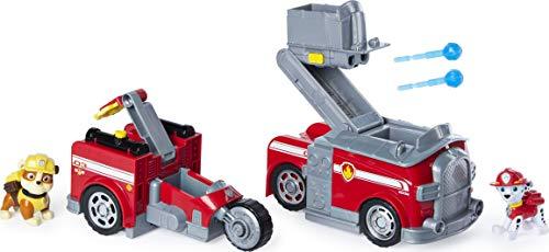 PAW Patrol Marshalls 2 - in - 1 - Split Second Feuerwehrauto mit 2 Figuren