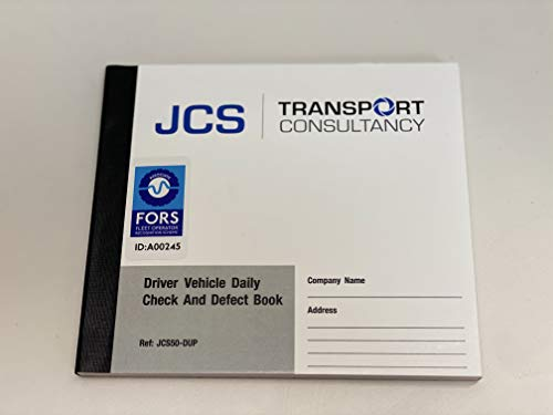 Tachpro Tachograph 50 Page Duplicate Vehicle Daily Check & Defect Book - 100202 x4